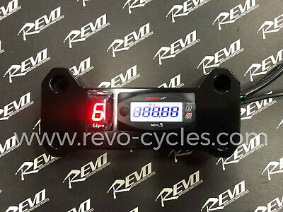 REVO M109R M1800R   2-1 Gauge+Gear Indicator GIpro DS KIT+Chrome mount Black
