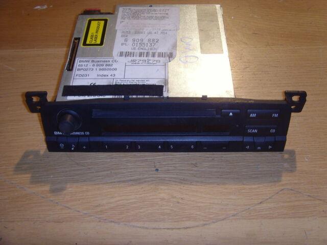 BMW 3 SERIES E46 BUSINESS CD/RADIO HEAD UNIT 65126909882
