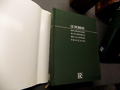 Dictionnaire historique de la langue francaise 2vol. coffret robert
