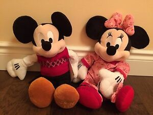 Mickey and Minnie Mouse plush animals