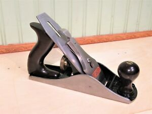 Stanley No. 4 Bailey Smooth Bottom Plane Woodworking Tool 9 1/2