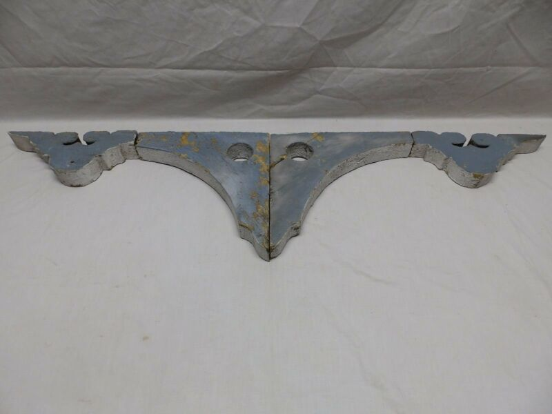 Pair Antique Corbels Gingerbread Shabby Porch Vtg Chic Finial Brackets 425-18P