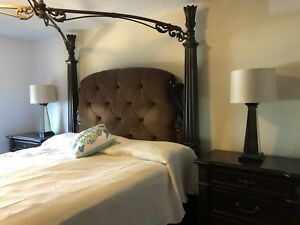 King bed with matching side tables
