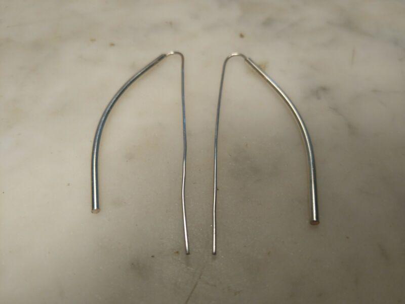 "Sterling Silver 925 Mexico Bar Threader Earrings Drop Earrings 2"""