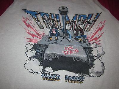 Triumph Allied Forces World Invasion Tour 81 Vintage Concert Tee Shirt Metal