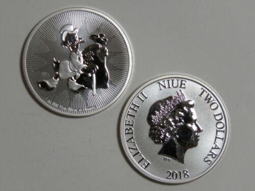 2018 Niue $2 Scrooge McDuck - 1 oz 999 Silver Disney