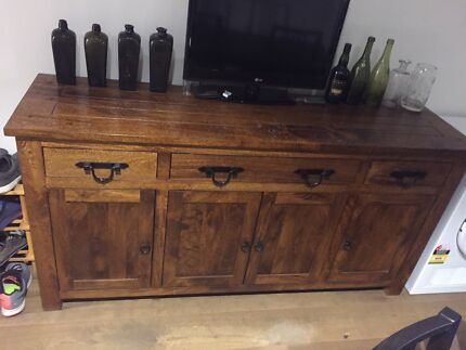 Solid Mango timber buffet with draws.