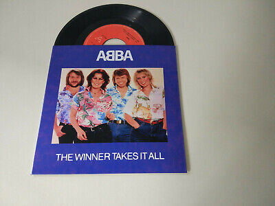 ABBA *THE WINNER TAKES IT ALL* 7'' 1980 PORTUGUESE EDITION EXC