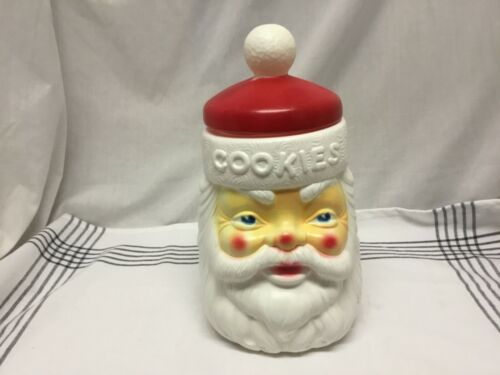 1973 Carolina Enterprise Empire Santa Claus Blow Mold Plastic Cookie Jar Vintage