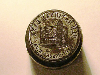 Old National Bank Martinsburg  W Va  National Bank Token Die Pair  Rare Find