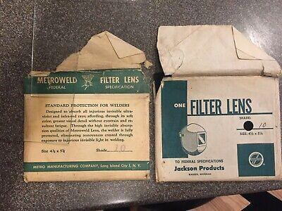 3 Vintage Jackson Metro Welders Filter Lens Glasses - Shade F10 Clear