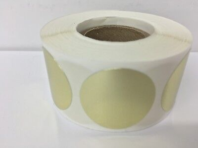 500 Labels Round 2 Inch Gold Color Coding Coded Inventory Sticker Dot