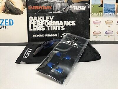 Oakley Batwolf Ice Iridium Replacement lens SKU# 43-358 + BONUS Blue Icon Kit!