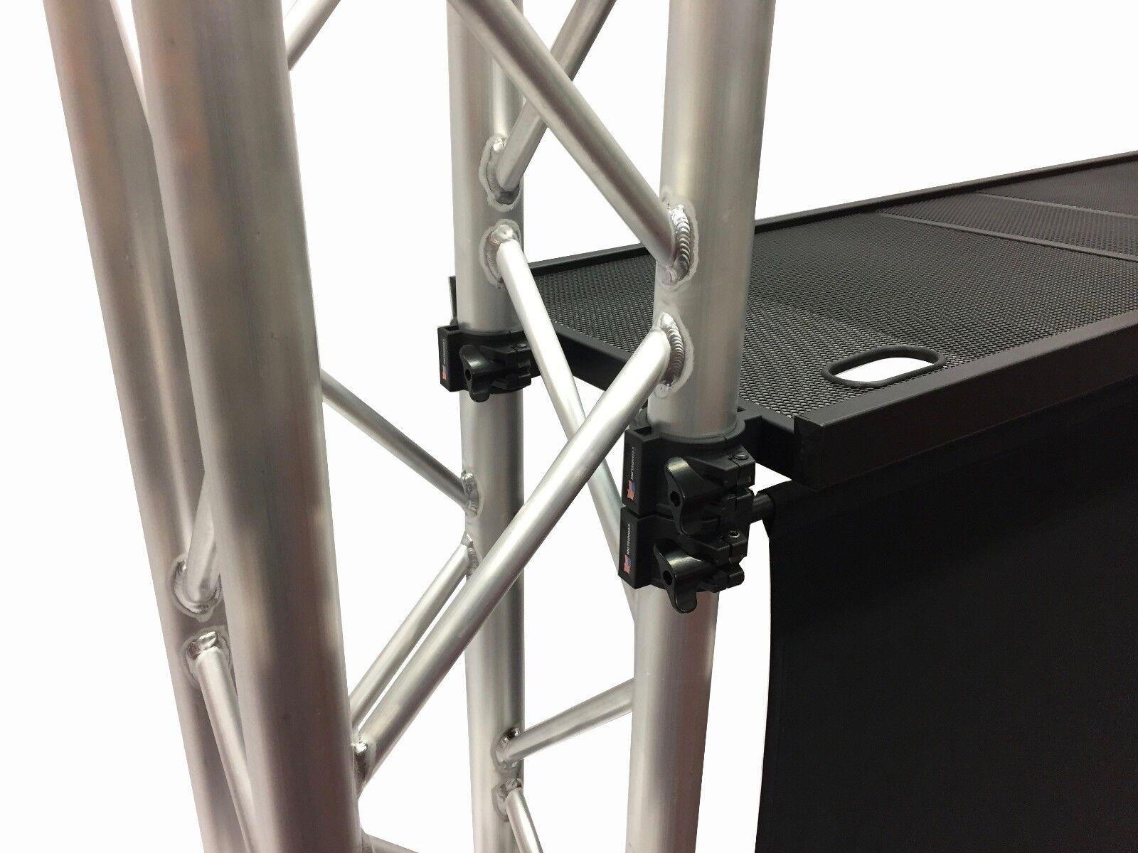 DJ Event Facade White/Black Scrims Aluminum Truss Booth 6.56' Arch truss System
