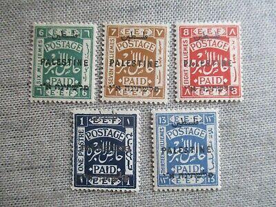 Palestine, Scott#53-57, MH