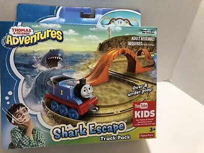 "Fisher Price Thomas & Friends Adventures "" Shark Escape Track Pack "" Ages 3+"