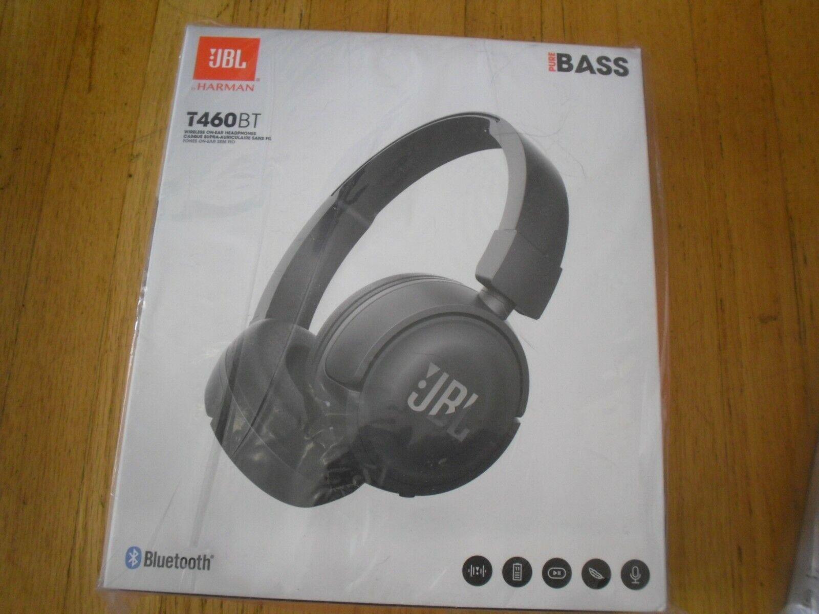 JBL T460BT Wireless On-ear Bluetooth Headphones with JBL Pur