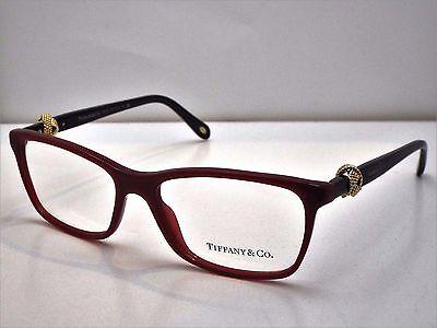 e0800ae54a2f Authentic Tiffany   Co. TF 2104 8152 Black Wine Eyeglasses Frame DEMO MODEL   345