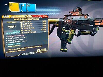 M10 Level 57 Night Hawkin Amara ASE 75 Rad Bonus 75 RADIATION xbox BL3 Mayhem 10