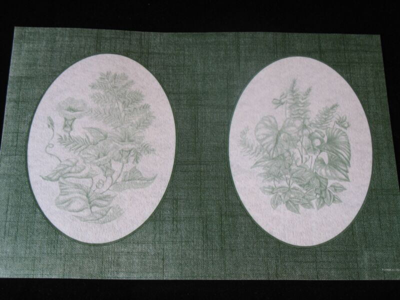 * TRI CHEM 7366 GREEN WOODLAND OVALS Picture to paint TRICHEM