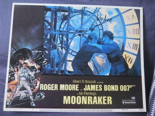 SIGNED JAMES BOND 007 MOONRAKER 1979 ROGER MOORE FILM MOVIE USA LOBBY CARD 6