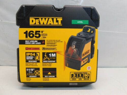 NEW Dewalt DW088K Red Cross Line Laser Self Leveling 165