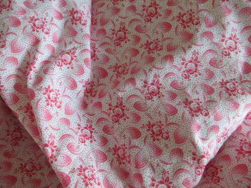 Duvet Cover Duvetcover Vintagefabric Germanlinen Red Pink Floral Patte Bedding