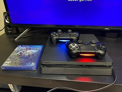 Sony PlayStation 4 Slim 1TB Console With One Extra Controller and New God of War