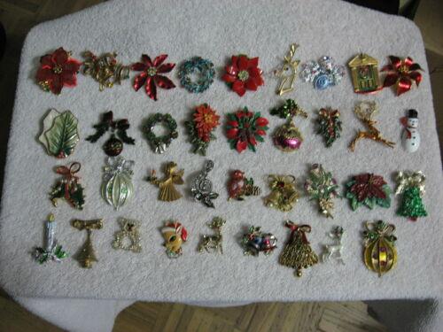 LOT OF 36 WONDERFUL CHRISTMAS PINS