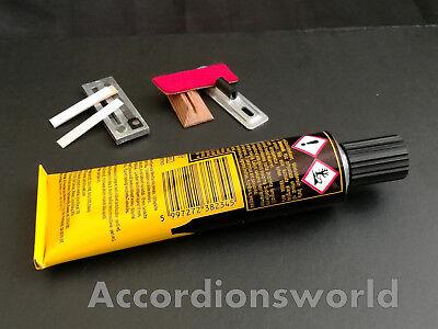 50 M Accordion Bellows Tape// Akkordeon Balgstreifen KALIKO GOLD RIBBED 24 mm