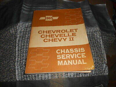Vintage OEM Chevrolet Chassis Service Manual 1965 Chevelle Chevy II