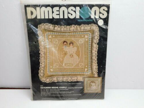 2228 Dimensions Victorian Bridal Couple Needlepoint CAROL COSTELLO 1983 NEW