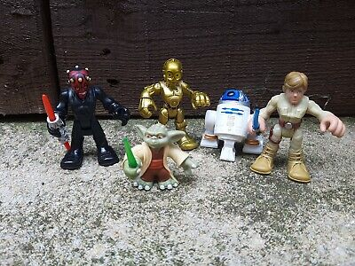 Star wars Galactic Heroes Figures Bundle Playskool Imaginext Darth Maul Yoda