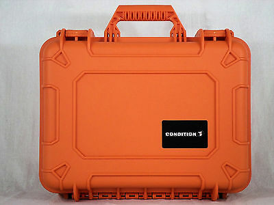 Condition 1 #801 Orange Airtight/Watertight Hard Case with Pluckable Foam