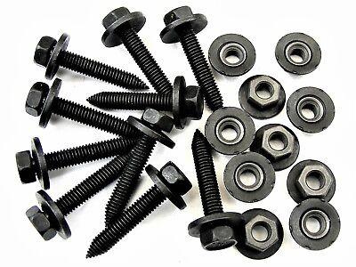 #395 M6-1.0mm x 22mm Long Chevy Body Bolts /& Flange Nuts 8mm Hex Qty.20