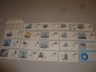 AUSTRALIAN ANTARCTIC TERRITORY FDC COVER STAMP LOT 1980 SHIP DISCOVERY FLEETWOOD