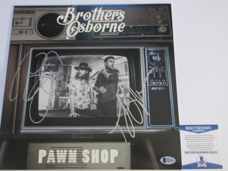 BROTHERS OSBORNE SIGNED PAWN SHOP VINYL LP RECORD BECKETT BAS COA E82403