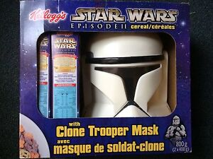 Star Wars Kellogg's Cereal with Clone Trooper Mask
