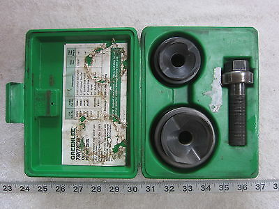 Greenlee 737bb 1 2 1-12 2 Manual Knockout Punch Driver Set Used