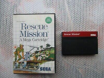 Jeu Master System / Ms Game Rescue Mission + boite PAL retro SEGA original*