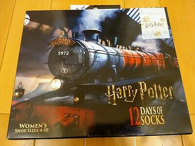 12 Days of Socks WOMEN'S Harry Potter Hogwarts Train Christmas Advent Calendar