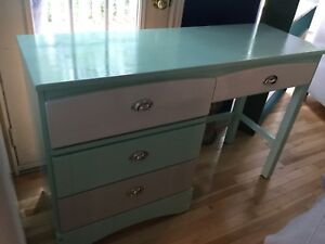 Light blue wood desk