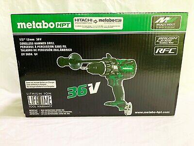 Metabo Hpt Hitachi 12 13mm 36v Brushless Hammer Drill Dv 36da Q4 New In Box