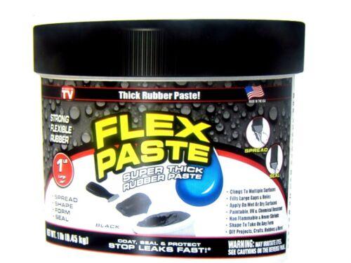 Flex Seal Flex Paste BLACK Super Thick Rubber Paste 1 lb Jar