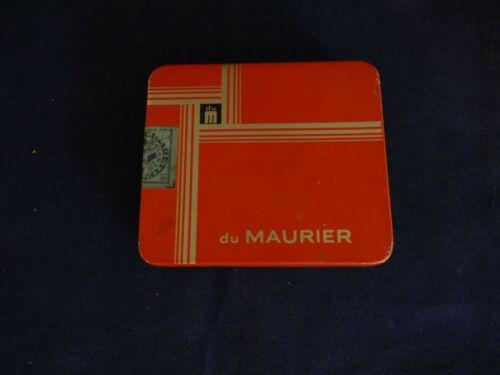 Vintage Du Maurier Cigarette Tin With Original Tax Stamp cool retro!!