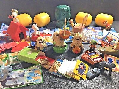 Konvolut Ü-Eierfigurem,Snoopy, Schafe, Pocahontas etc., z.T. orig. Beipackzettel