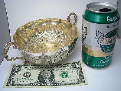 PORTUGUESE SOLID SILVER BOWL BASKET DISH 833 Silver Lisbon Portugal Ca1886-1900s - $745.00