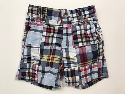 JANIE AND JACK High Sea Style Plaid Madras Shorts Size 6-12 Months