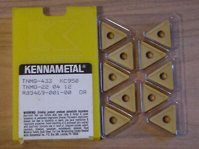 10 Pcs Tnmg 433 Kennametal Grade Kc950 Carbide Inserts New In Box