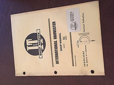 It International Harvester Shop Tractor Service Manual 1086 986 886